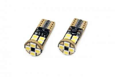 LED CANBUS 12SMD 2835 T10e (W5W) White 12V/24V