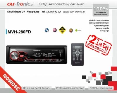 Pioneer MVH-280FD Nowość 2016, Zamów: 185404292, Moc: 100W