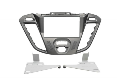 Ramka radiowa 2 DIN Ford Transit Custom (FCC) 11/2012->, Tourneo (FAC) 11/2012-> Silver