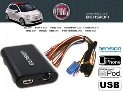 Cyfrowa zmieniarka Dension USB,iPod,iPhone,AUX - Alfa Romeo, Fiat, Lancia