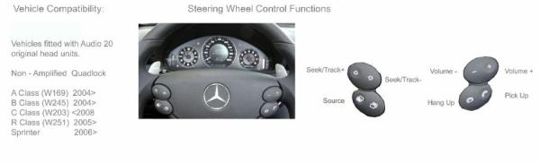 Adapter do sterowania z kierownicy Mercedes A,B,C,R,Sprinter,Viano CTSMC001.2