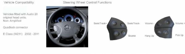 Adapter do sterowania z kierownicy Mercedes E-Klasse (W211),SLK