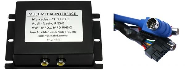 Interfejs 2x wideo Audi RNS-D, VW MFD, Seat MFD kamera cofania