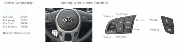 Adapter do sterowania z kierownicy Kia Cee'd,Soul,Sorento,Venga CTSKI002.2