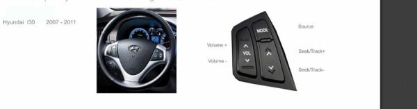 Adapter do sterowania z kierownicy Hyundai i30 2007 CTSHY001.2