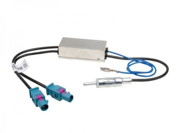 Adapter antenowy 2x Fakra DIN (Z) z zasilaniem phantom