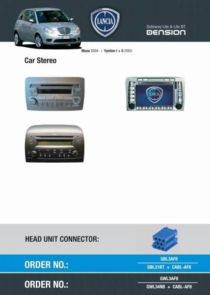 Cyfrowa zmieniarka Dension Bluetooth,USB,iPod,iPhone,AUX - Fiat,Alfa Romeo,Lancia