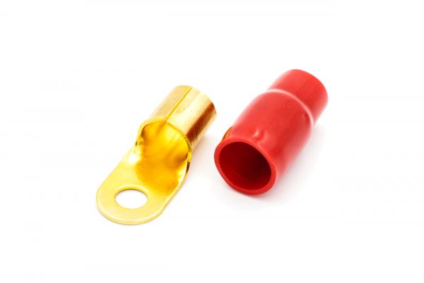 Terminal oczkowy 50mm²  / d=8,4 mm czerwony